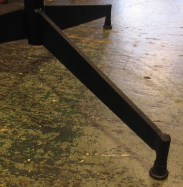 Iron and Marble Cigarette Table after Paul McCobb