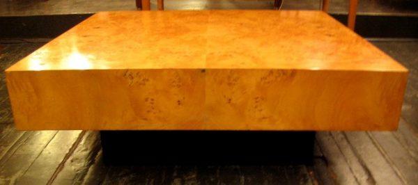 Burlwood Coffee Table attr. Milo Baughman