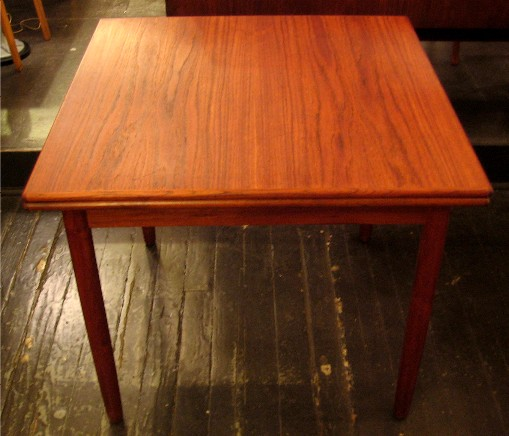 Square Teak Draw Leaf Table