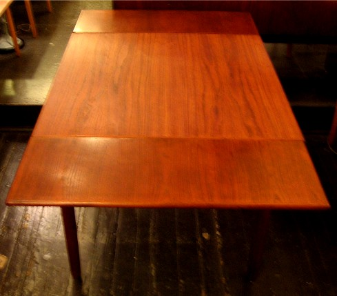 Square Teak Draw Leaf Table