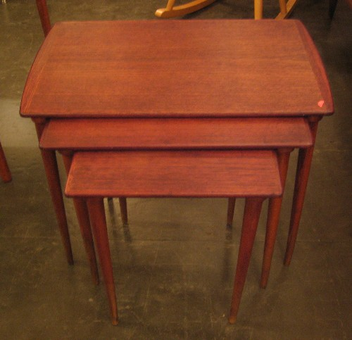 Danish Nesting Tables in Teak