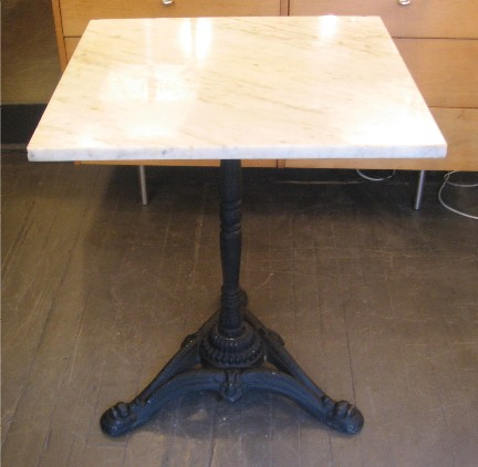 Cast Iron and Marble Cafe Table