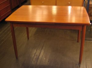 Teak Draw Leaf Table from Denmark