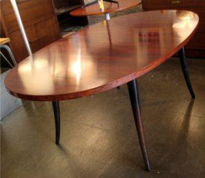 Harvey Probber Saber Leg Rosewood Dining Table