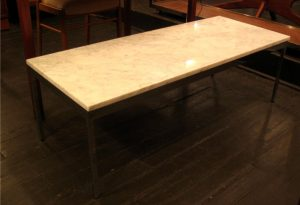 Chrome and Marble Coffee Table