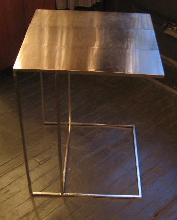 Brushed Metal Side Table by Minotti