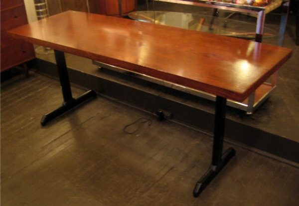 Long and Narrow Oak Utility Table