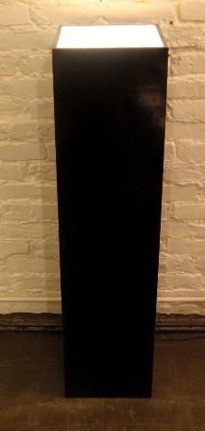 Lighted Black Display Pedestal