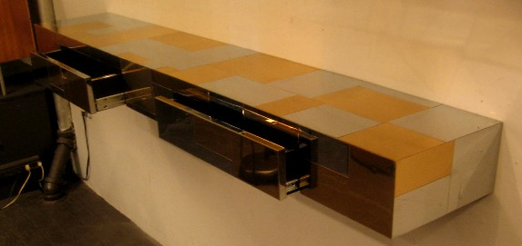 Paul Evans Cityscape Wall Mounted Console Table