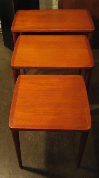 Set of Three Teak Nesting Tables from Sweden