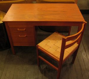 Small Teak Desk and Chair from Denmark