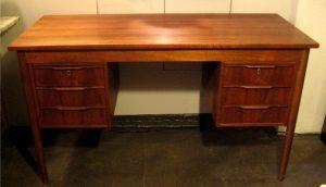 Compact Double Pedestal Desk in Walnut