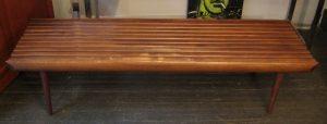 Five Foot Walnut Slat Bench