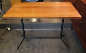 Iron & Teak Trestle Based Writing/Breakfast Table