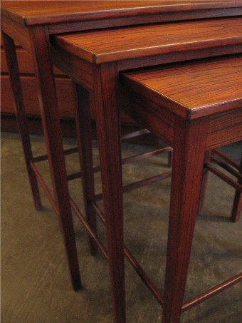 Set of Three Nesting Tables in Brazilian Rosewood
