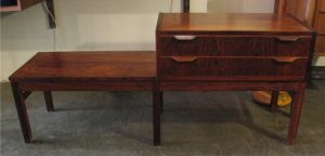 Rosewood Hall Bench/Table and Two Drawer Chest