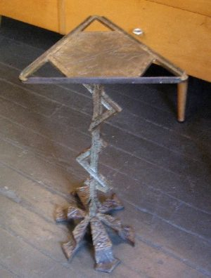 Triangular Iron Cigar Table