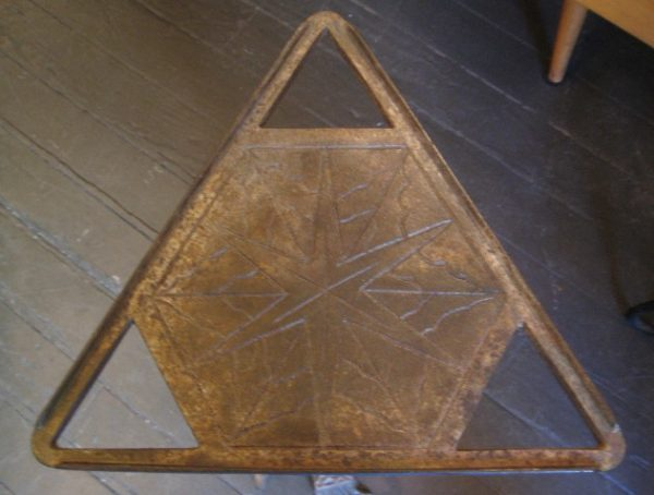 Triangular Iron Cigar Table