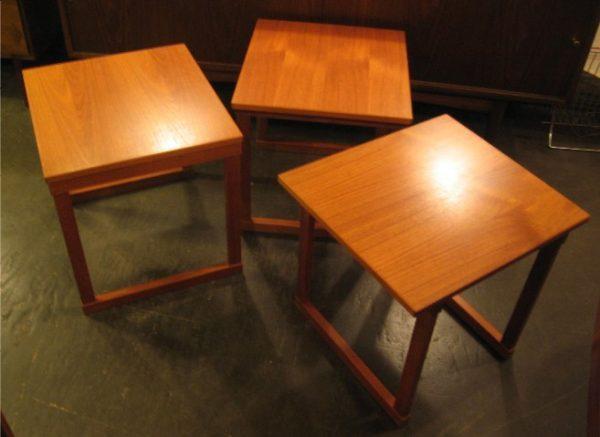 Set of Kai Kristiansen Nesting Cube Tables In Teak