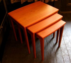 Set of Three Teak Danish Nesting Tables
