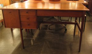 Walnut Desk by Drexel