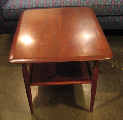 Paul Laszlo Walnut Two Tier Side Table