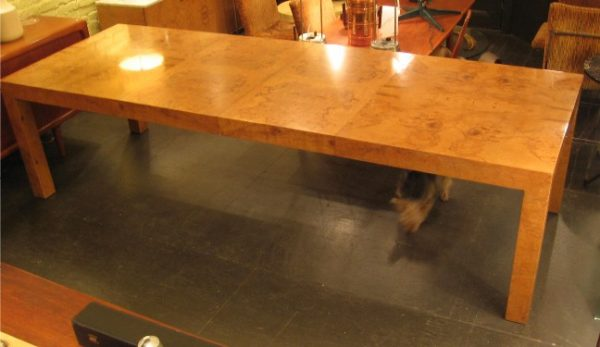 Milo Baughman Burlwood Parsons Dining Table