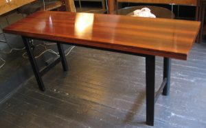 Rosewood and Mahogany Harvest Table