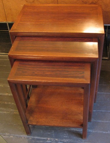 Rosewood and Mahogany Nesting Tables