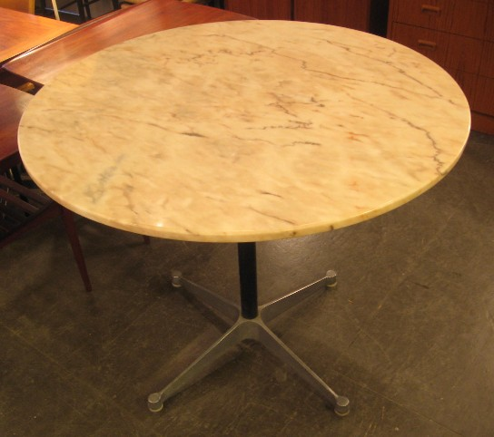 "Eames Aluminum Group 36"" Marble Top Table"