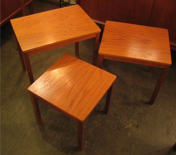 Set of Three Teak Nesting Tables from Norway