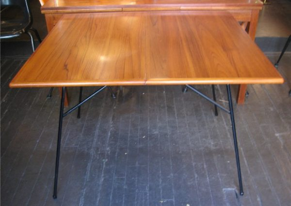 Milo Baughman Iron Base Dining Table