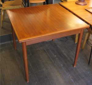 Square Teak Draw Leaf Extension Table from Denmark