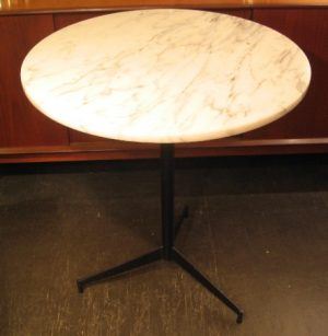 Marble and Steel Cafe Table after Paul McCobb