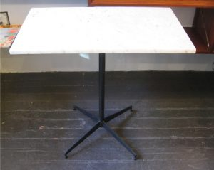 Marble and Iron Rectangle Cafe Table