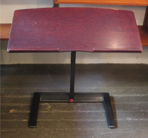 Herman Miller Adjustable Keyboard Stand with Walnut Tray