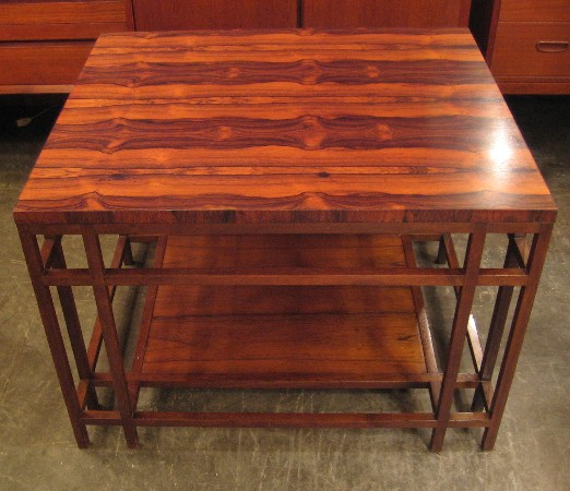 Rosewood and Mahogany Side Table by Baker