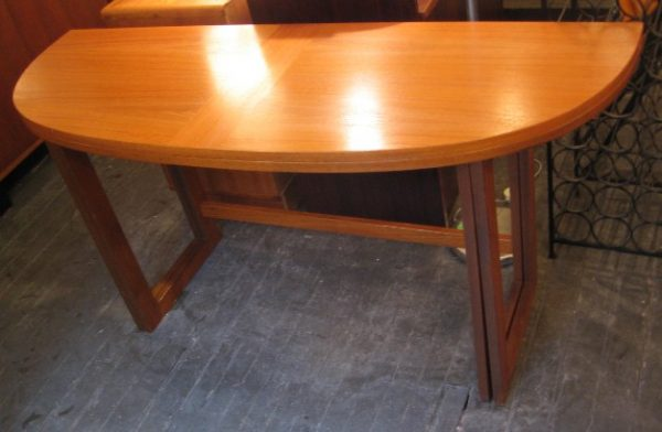 Teak Gate Leg Dining / Console Table from Denmark