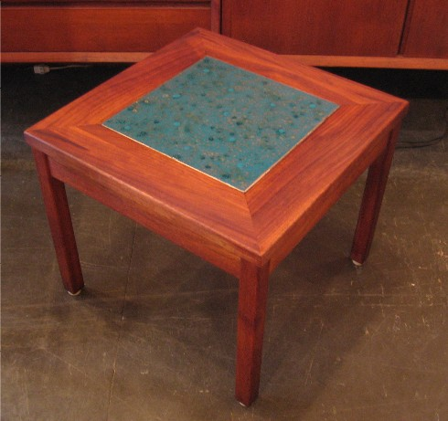 Brown Saltman Walnut Side Table