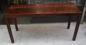 Parsons Style Console / Writing Table in Brazilian Rosewood