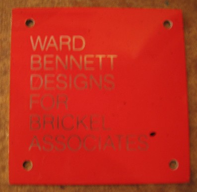 Ward Bennett Open Frame Ebonized Wood & Leather Side Tables
