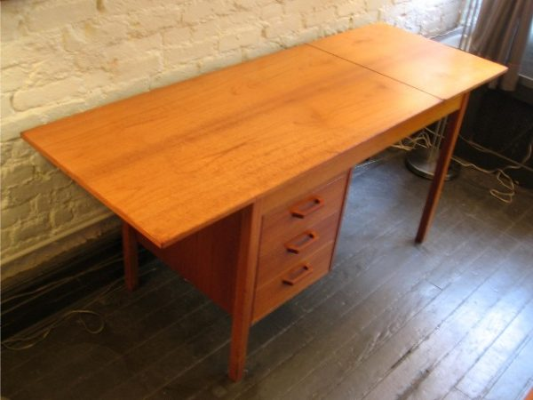 Teak Drop Leaf Extension Desk