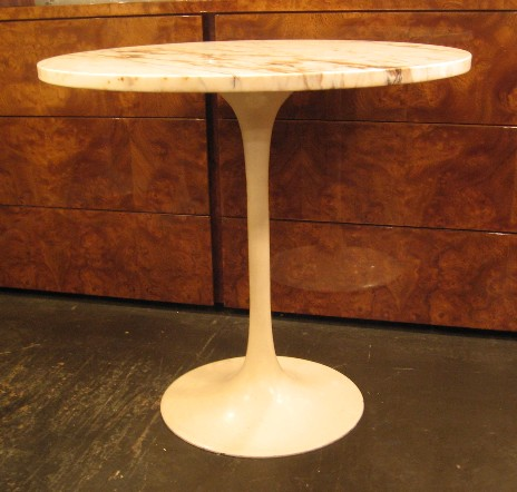 Burke Occasional Tulip Table with Marble Top