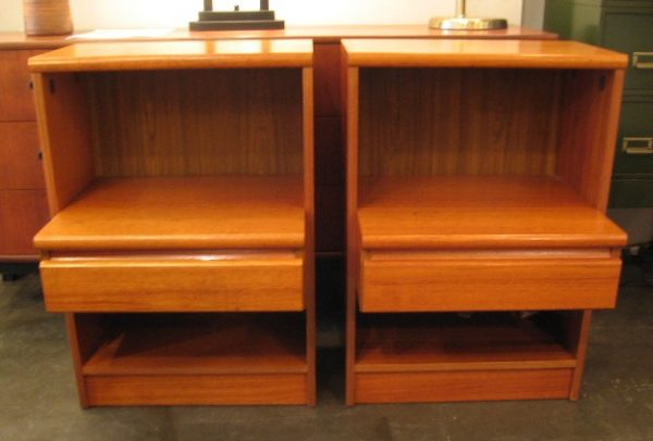 Pair of Danish Teak Bedside Tables