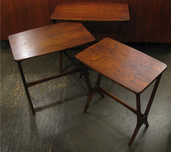 Erling Torvits Walnut Nesting Tables from Denmark