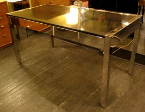 Chrome and Granite Pace Collection Desk