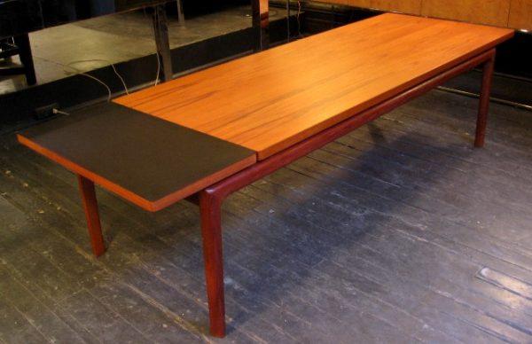 Peter Hvidt Drop Leaf Teak Coffee Table