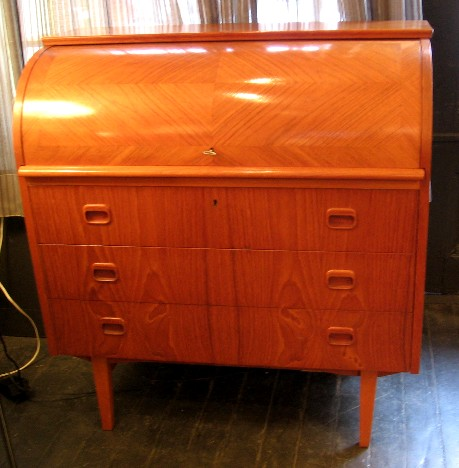Teak Roll Top Secretary from Sweden
