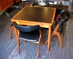 Teak Extension Game/Dining Table & Chairs