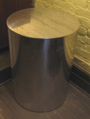 Paul Mayan Aluminum Occasional Table